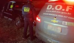 Camionete roubada em Cuiabá foi recuperada pelo DOF durante Operação
