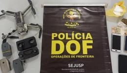 DOF apreende drone que levaria droga e celulares para presídio de Dourados
