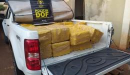 Camionete carregada com mais de uma tonelada de maconha foi recuperada pelo DOF durante Operação