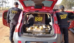 Goiás foi recuperado pelo DOF carregado com mais de 120 quilos de maconha durante Operação