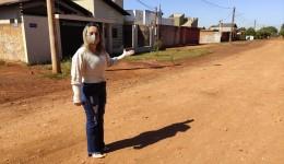 Lia Nogueira reivindica asfalto e reabertura de acesso ao Parque dos Jequitibás