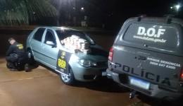 Veículo com pasta base de cocaína foi apreendido pelo DOF durante Operação