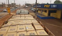 Carreta com 570 caixas de cigarros contrabandeados é apreendida pela PRF