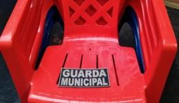 Foram apreendidas pela GM cadeiras que podem ser furtadas