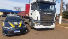 PRF recupera em Nova Alvorada do Sul (MS) carreta de vítima de sequestro no RJ
