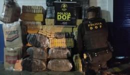 DOF apreende 1026 kg de drogas durante operação está madrugada
