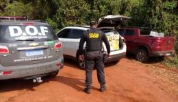 Veículos são apreendido pela DOF com mais de 1.600 kg de drogas