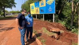 Prefeitura e Sanesul fazem vistoria para solucionar problema na Av. Presidente Vargas