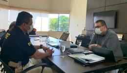 Alan Guedes e Superintendente debatem projetos sobre segurança publica