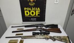 DOF apreendeu  durante operação  Carabina, rifle, fuzil e munições em Dourados
